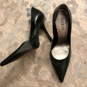 Lightly Worn Guess Leather Heels